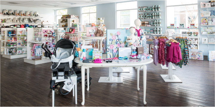 A view inside the Babies in Bloom Boutique