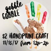 Baby & Me Craft – Thanksgiving Hand Turkey